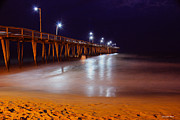 Night Time Photography Framed Prints - Pier  Framed Print by Christopher  Ward