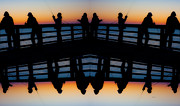 Pier Fishing At Dawn Print by Betsy A  Cutler