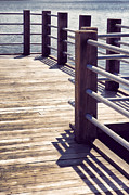 Metal Pier Prints - Pier Print by HD Connelly