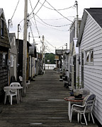Pier Houses At Canandaigua Lake June 2011 Print by Joseph Duba