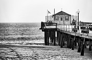 Winter Travel Prints - Pier in Winter Print by John Rizzuto