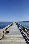 Fishing Pier Prints - Pier On Fort Pond Bay Montauk Print by Christopher Kirby