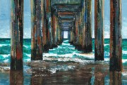 Piers Painting Framed Prints - Pier One Framed Print by Frances Marino