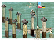 Flags Paintings - Pier Pressure by Anne Beverley