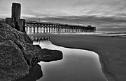 Tidal Photographs Framed Prints - Pier Reflections Framed Print by Ginny Horton