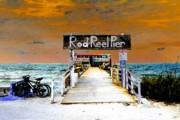 Reel Digital Art Prints - Pier scape Print by David Lee Thompson
