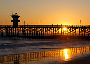 California Art - Pier Sunset by Gary Michael Flanagan