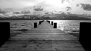 Dock Acrylic Prints - Pier to Mount Tallac Lake Tahoe by Brad Scott