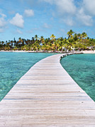Tranquil Scene Photos - Pier To Tropical Island by Matteo Colombo