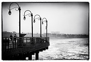 Monica Framed Prints - Pier View Framed Print by John Rizzuto