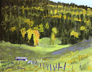 Aspen Trees Pastels Prints - Pierce Canyon Fall Print by Donna Gordon