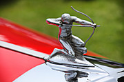 Antique Automobiles Photo Posters - Piere-Arrow hood ornament Poster by Garry Gay