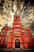 Storm Metal Prints - Pierhead Metal Print by Meirion Matthias