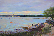 Hudson Valley Paintings - Piermont Shore NY by Ylli Haruni