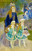 Nudes Canvas Posters - Pierre-Auguste Renoir La Promenade from 1874 Poster by Pg Reproductions