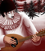 Lute Digital Art - Pierrot by Callan Rogers-Grazado