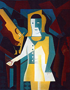 Large Sized Metal Prints - Pierrot Metal Print by Pg Reproductions