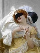 Pierrots Embrace Print by Stefan Kuhn