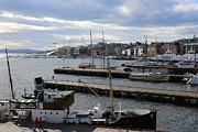 Oslo Metal Prints - Piers of Oslo Harbor Metal Print by Carol Groenen