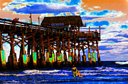 Surf Art Digital Art Framed Prints - Pierscape Framed Print by David Lee Thompson