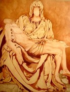Jesus Art Sculptures - Pieta-After Michelangelo by Kevin Davidson