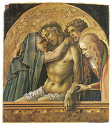 Religious Art Paintings - Pieta by Carlo Crivelli