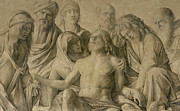 Religious Drawings Metal Prints - Pieta Metal Print by Giovanni Bellini