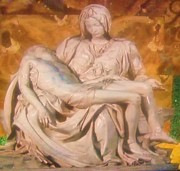 Sculptures Mixed Media Prints - Pieta Print by Gunter  Hortz