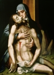 Biblical Prints - Pieta Print by Luis de Morales