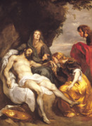 Worship God Painting Posters - Pieta Poster by Sir Anthony van Dyck
