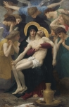 Passion Painting Framed Prints - Pieta Framed Print by William-Adolphe Bouguereau