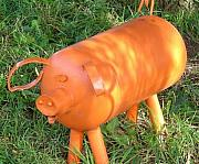 Animals Sculptures - Pig by Antonin Gauthier