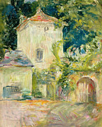 Building Painting Framed Prints - Pigeon Loft at the Chateau du Mesnil Framed Print by Berthe Morisot