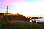 Tidepool Framed Prints - Pigeon Point Light House Framed Print by Wingsdomain Art and Photography