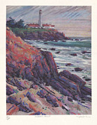 Lithograph Originals - Pigeon Point Print by Donald Maier
