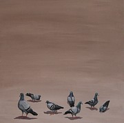 Jennifer Lynch Art - Pigeons by Jennifer Lynch