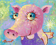 Piglet Paintings - Piglet by Sergey Lipovtsev