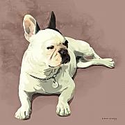 Bulldog Digital Art - Piglet by Simon Sturge