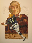 Football Mixed Media - Pigskin Legends by Chuck Hamrick
