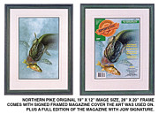 Canada Paintings - Pike Fishing original and Magazine by JQ Licensing