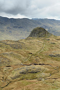 Langdale Framed Prints - Pike Of Stickle, Langdale Pikes Framed Print by Stephen Spraggon