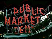 Farmers Market Framed Prints - Pike Place Market Entrance 5 Framed Print by Tim Allen