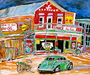 Sunoco Sign Paintings - Pike River Depanneur by Michael Litvack