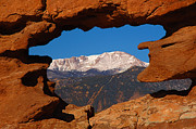 Colorado Springs Art - Pikes Peak Frame by Jon Holiday