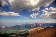 Clouds Prints - Pikes Peak Summit Print by Shawn Everhart