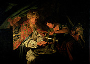 Pontius Pilate Paintings - Pilate Washing his Hands by Stomer Matthias