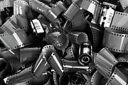 Large Group Of Objects Art - Pile Of 35mm Photographic Film by Caspar Benson