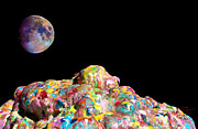 Moon Sculpture Framed Prints - Pile Of Color In Space Two K O Four Framed Print by Carl Deaville