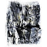 Pile Of Crushed Cardboard  For Recycling Print by Bernard Jaubert