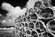 Large Scale Framed Prints - Pile Of Lobster Pots Stacked In The West Coast Of Ireland Framed Print by Joe Fox